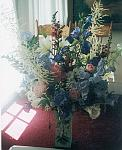 Tall Blue & Multicolor Arrangement